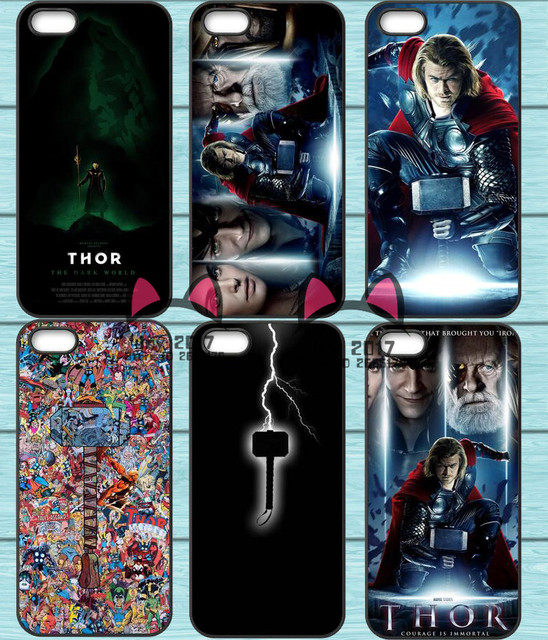 super hero thor hammer tpu phone case for iphone 4s 5s se 5c 6 6s