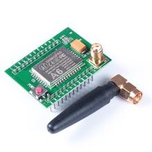 2017 A6 GSM GPRS Модуль Quad Band SMS Голос 850 МГц 900 МГц 1800 МГц 1900 МГЦ с Антенной для Arduino провода для Arduino малина