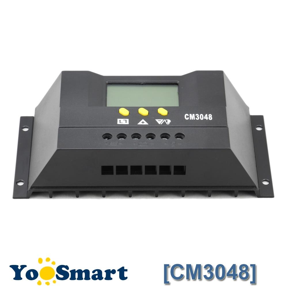 30A 48V Solar Charge Controller Digital LCD Display Solar Panel Light Timer Control for Off Grid System Solar Voltage Regulator