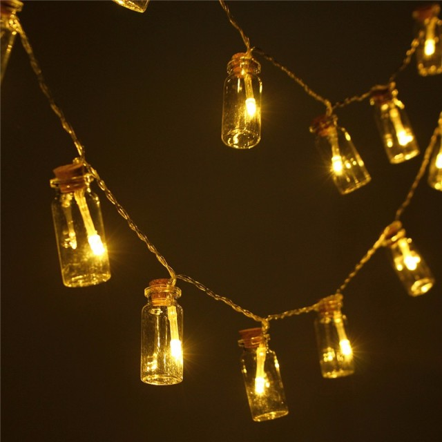 3.2m Waterproof Wishing Bottle Led Fairy Lighting 20 Led String Light Battery Outdoor Light Garden Chistmas Decor DC4.5V