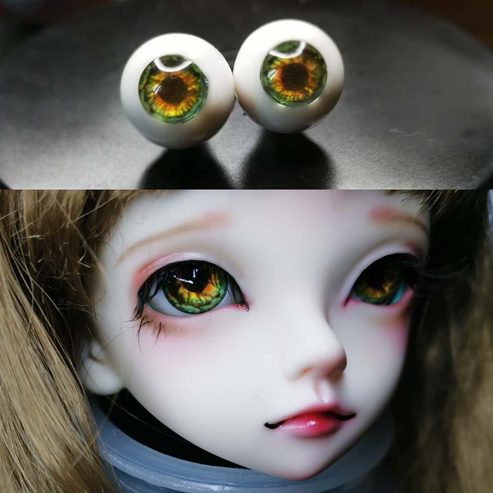 18mm Hand Made BJD Doll Eyes Grey Silver Acrylic Half Ball