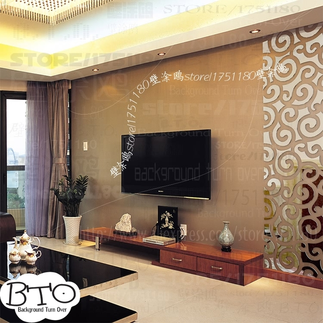 DIY Auspicious Clouds Pattern Traditional Chinese 3D Decoration Mirror Art  Wall Home Decor Living Room TV