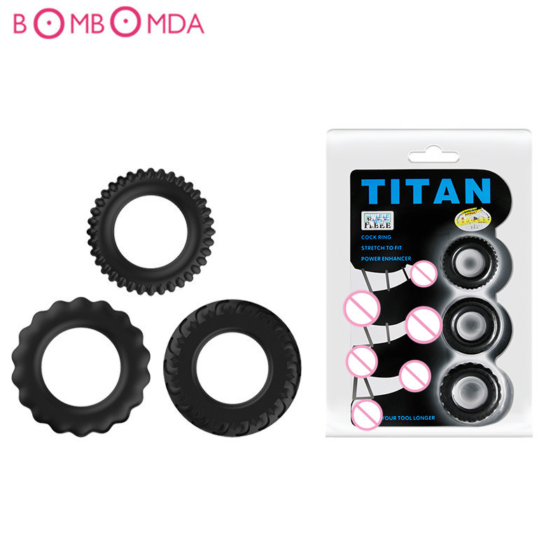 Tire Ring For Condom Penis Ring Cocking Penis Sleeve Extender Sex Toys Erotic Safe Products For Men Ejaculation Delay Cock Ring