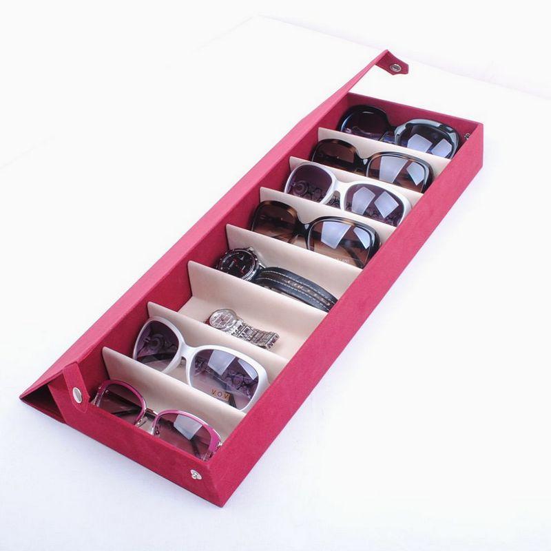 8 Deerskin Fleece Glasses Display Box Glasses Storage Box Sunglasses Family  Pack Moistureproof Dust Proof Storage Organizer Box In Accessories From  Menu0027s ...
