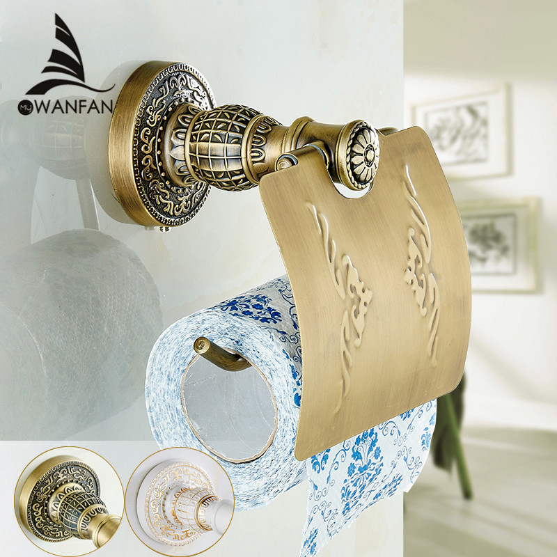 ФОТО antique brass paper towel rack europe style bathroom paper holder European toilet paper box toilet accessories Paper SL-7803