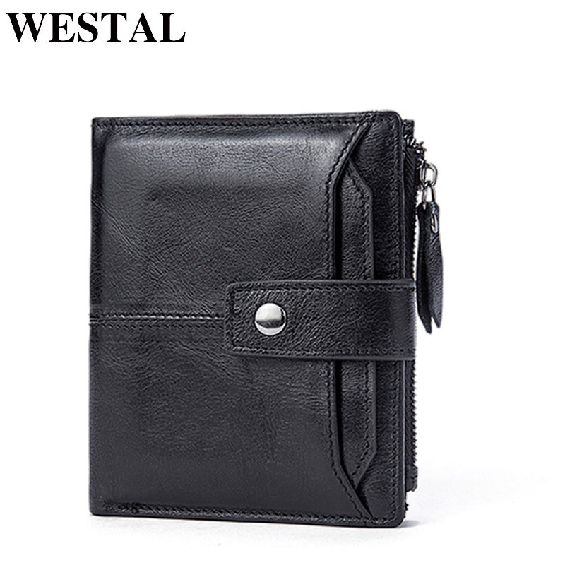 WESTAL Men's Wallet Genuine Leather Wallet for Credit Card Male Coin Purse Men Hasp Short Organizer Wallets Leather Man Wallets contact s brand short men wallets genuine leather male purse card holder wallet fashion man hasp wallet man coin bags