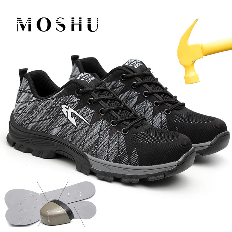 Summer Work & Safety Boots Men Steel Toe Work Safety Shoes Breathable Construction Work Shoes Puncture Proof High Quality ShoesSummer Work & Safety Boots Men Steel Toe Work Safety Shoes Breathable Construction Work Shoes Puncture Proof High Quality Shoes