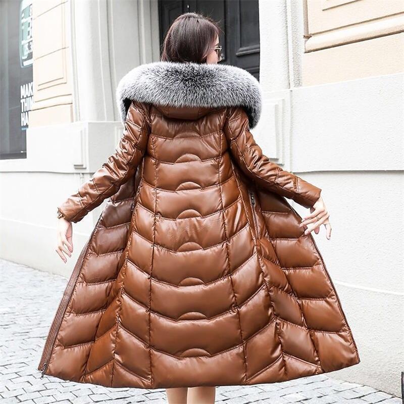 Neue 2019 Europäischen stil Winter Frauen Echten Pelzmantel Weibliche Fuchs pelz Warm Langen mantel Winter wasserdichte Nerz mantel Plus größe 5XL-in Kunstpelz aus Damenbekleidung bei  Gruppe 1
