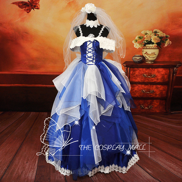 Anime Macross Frontier Sheryl Nome cosplay Costume Sheryl dress Halloween  Costumes for women party white wedding