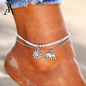 AY Anklets For Women Foot Jewelry Ankle Bracelet on the Leg