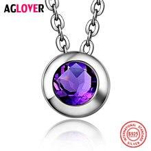 Для женщин Мода Цепочки и ожерелья 925 серебро очарование круглый