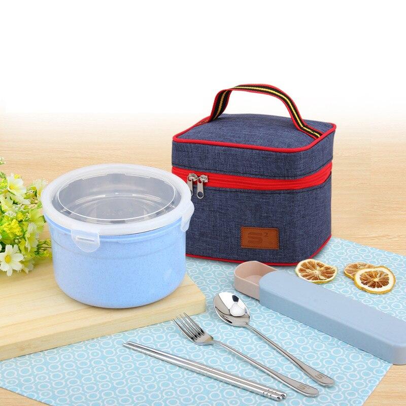 Ev ve Bahçe'ten Öğle Yemeği Kutuları'de Yeni 304 Paslanmaz Çelik Öğle Yemeği Kutuları Japon Tarzı Sızdırmaz Plastik Taşınabilir Seyahat Çocuklar Için Bento Kutusu Yetişkin Gıda Konteyner Setleri title=