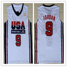 a56b2eb0d0a Mens  9 Michael Jordan 1992 Dream Team USA Throwback Basketball Jersey  Embroidery Stitched XXS-
