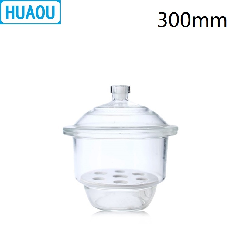 HUAOU 300mm Desiccator with Porcelain Plate Clear Glass Laboratory Drying EquipmentHUAOU 300mm Desiccator with Porcelain Plate Clear Glass Laboratory Drying Equipment