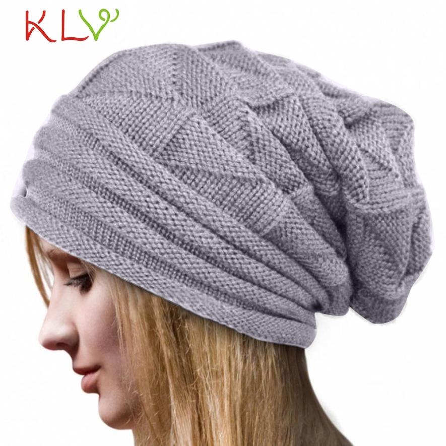 CharmDemon Hot Sale Women Winter Crochet Hat Wool Knit Beanie Warm Caps nr29 rwby letter hot sale wool beanie female winter hat men