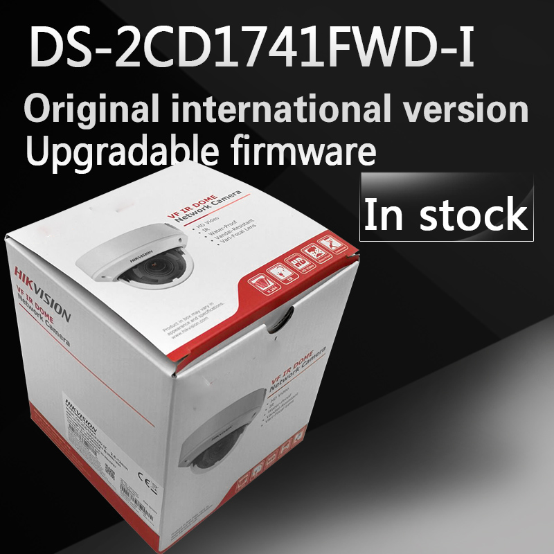 free shipping english version New DS-2CD1741FWD-I replace DS-2CD2735F-IS Vari-focal 4MP dome Network IP Camera free shipping in stock new ds 2cd1731fwd iz replace ds 2cd2735f izs vari focal 3mp dome network ip camera