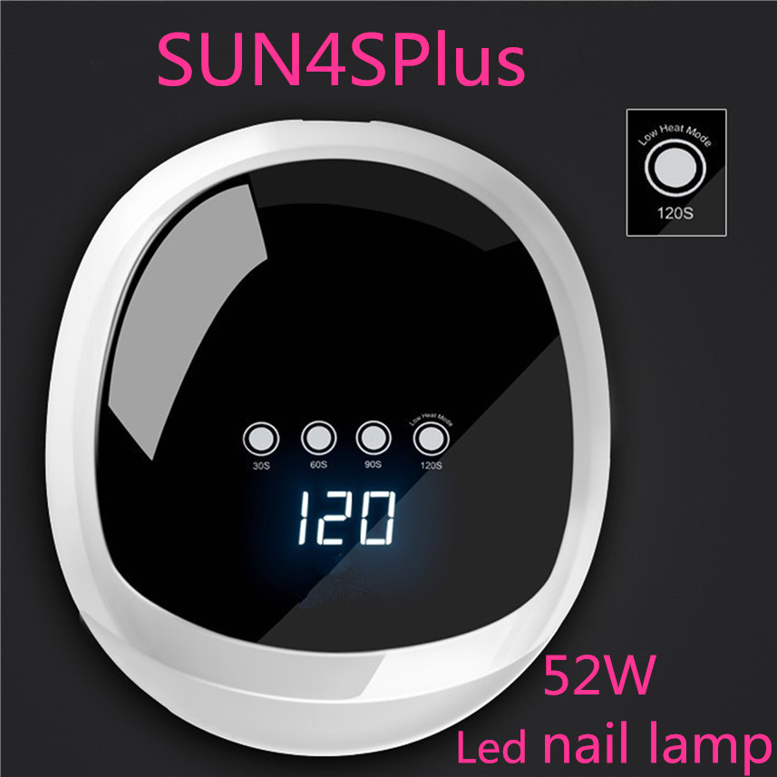 Nail Gels Polish Machicure Machine SUN4S Plus UV LED Nail Lamp 52W Nail Dryer with Automatic Sensor Touch Screen Nail Tool