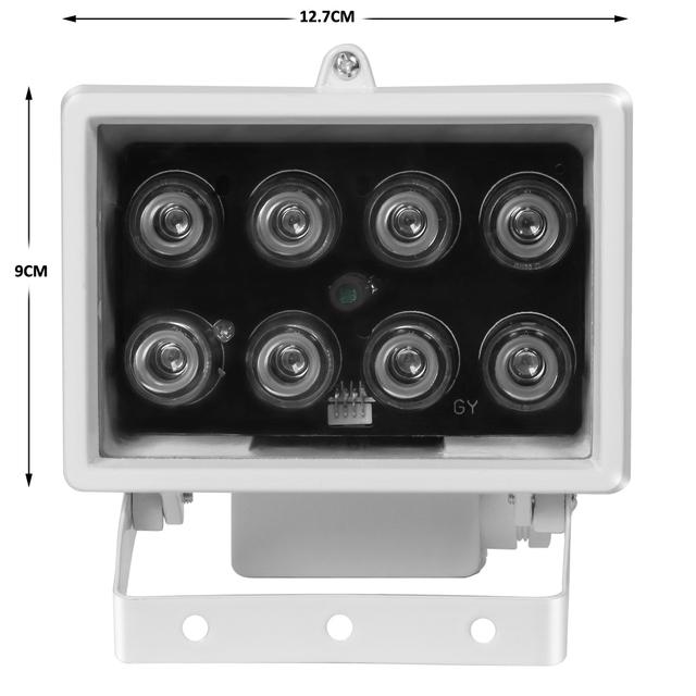 CCTV 8PCS IR LEDS Array IR illuminator infrared lamp Waterproof Metal Night Vision CCTV Fill Light for CCTV Security camera