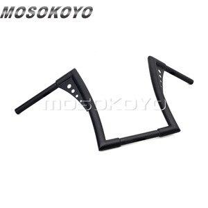 "Image 5 - Motorcycle Black APE Hanger Handlebars 12"" Rise Drag Fat Bar 30.5"" Wide for Harley Softail FLST FXST Sportster XL Touring"