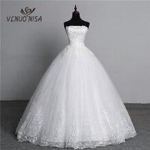 صور حقيقية بسيطة الدانتيل زهرة حمالة قبالة الأبيض موضة مثير فساتين الزفاف للعرائس حجم كبير vestido de noiva