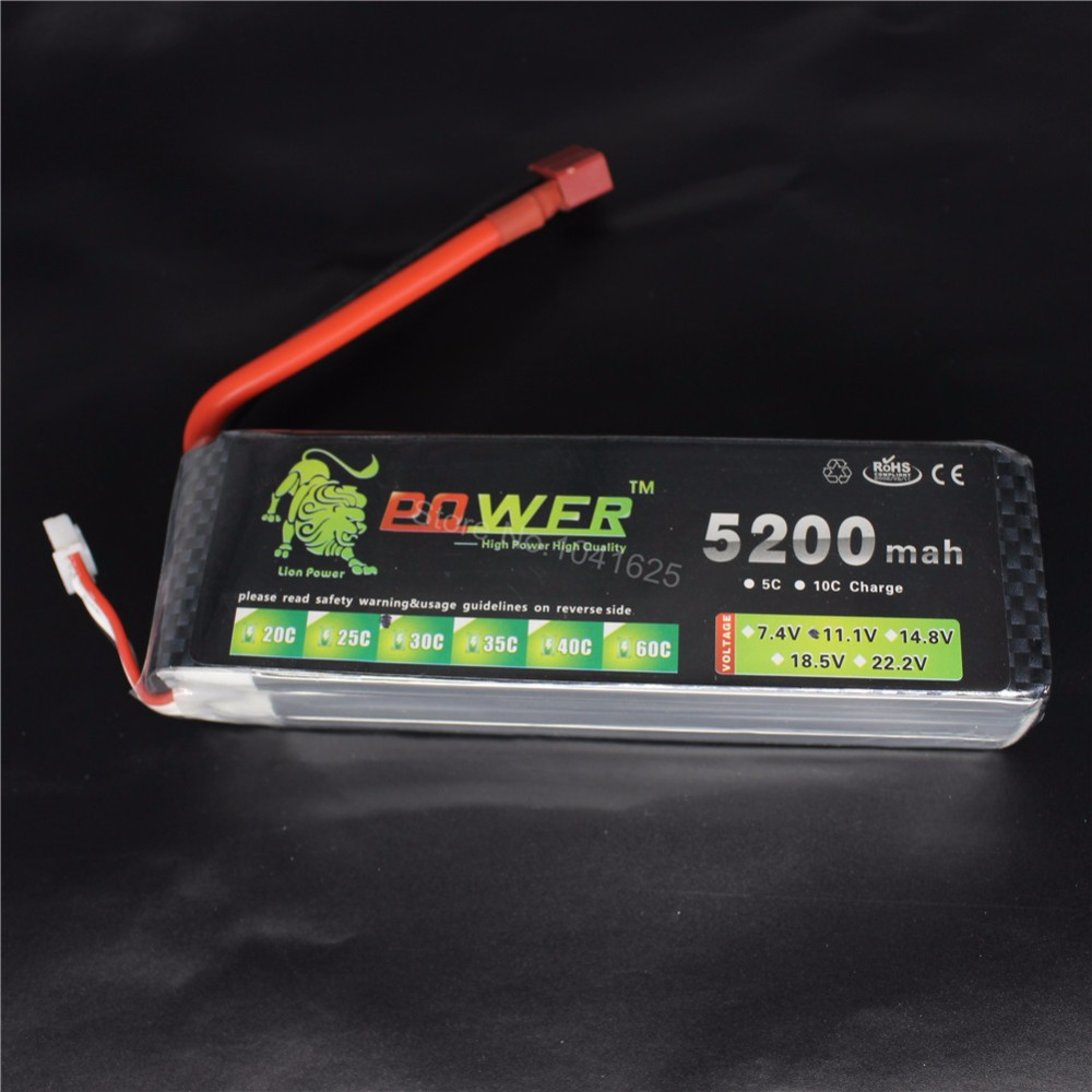 все цены на 3S LiPo Battery Pack 11.1v 5200mah 30C 3S1P Deans T plug Connector Accu Continuous Discharge For RC Monster Truck Quadcopter