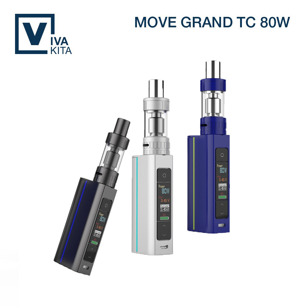 ФОТО High quality e cig mod Vivakita newest color screen display top fill ceramic coil vaporizer