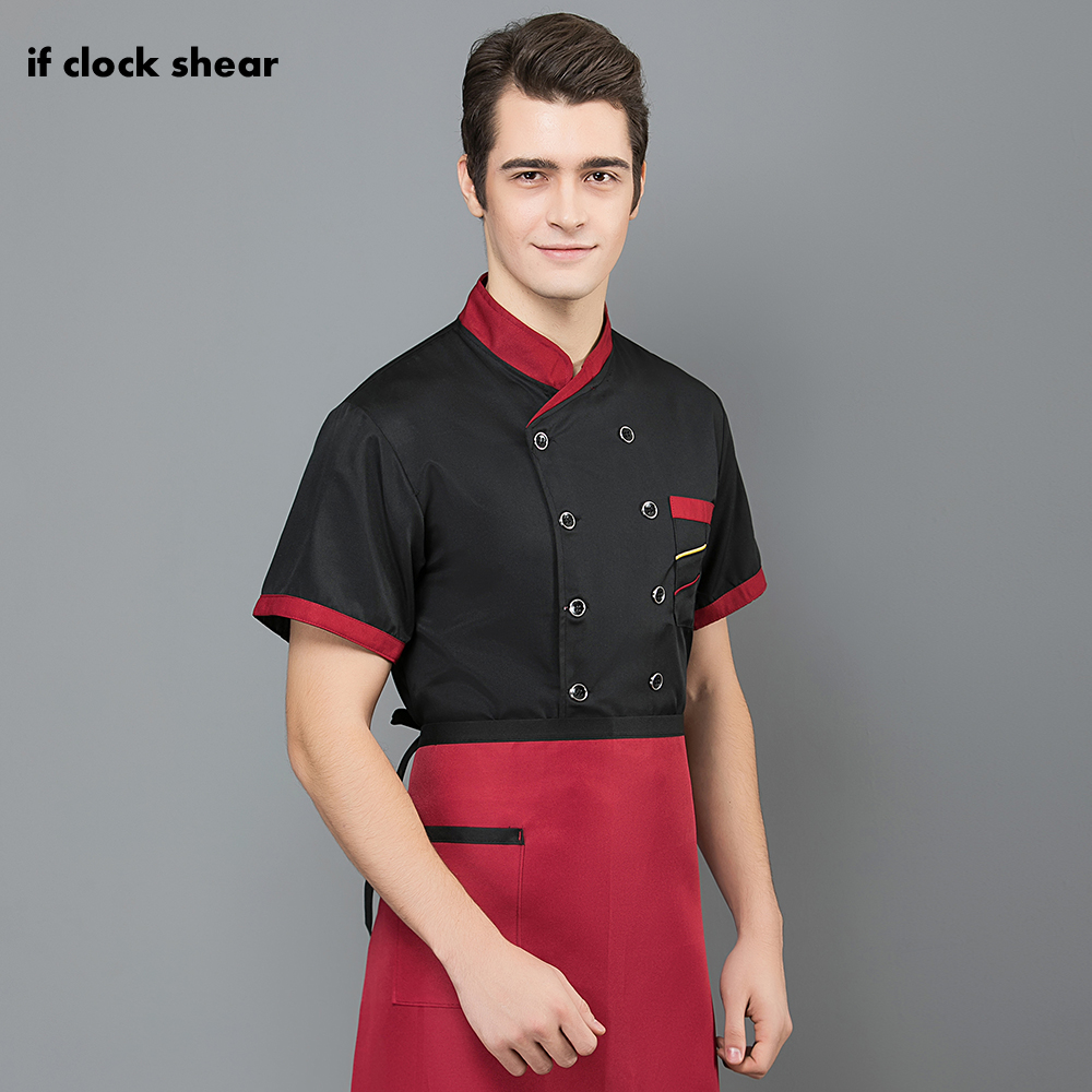 High Quality Hotel Chef Uniform Short Sleeved Unisex Kitchen Work Clothes Men's Professional Clothing Restaurant Uniforms Shirts