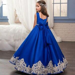 Image 2 - אלגנטית כדור שמלת אופנה פרח בנות שמלות סקופ מחשוף ציפר חזור בנות תחרות ראשית הקודש שמלות לחתונה