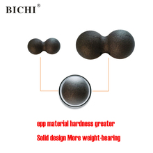 BICHI 16*8cm Peanut Massage Ball Yoga Stress Fitness Exercise Balls Sports Crossfit Workout Equipments Muscle Relex Apparatus