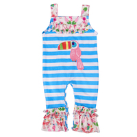 Baby Girl Rompers Newborn Baby Girls Clothes Sleeveless White Blue Stripe Baby Summer Factory Wholesale For