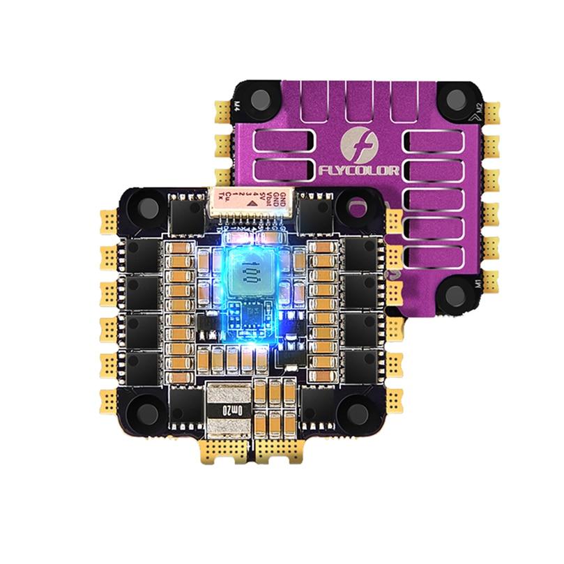 Flycolor x-cross 60A BLheli_32 3-6S 4in1 ESC 5V BEC sortie STM32F0 processeur régulateur de vitesse électronique pour Drone de course RC