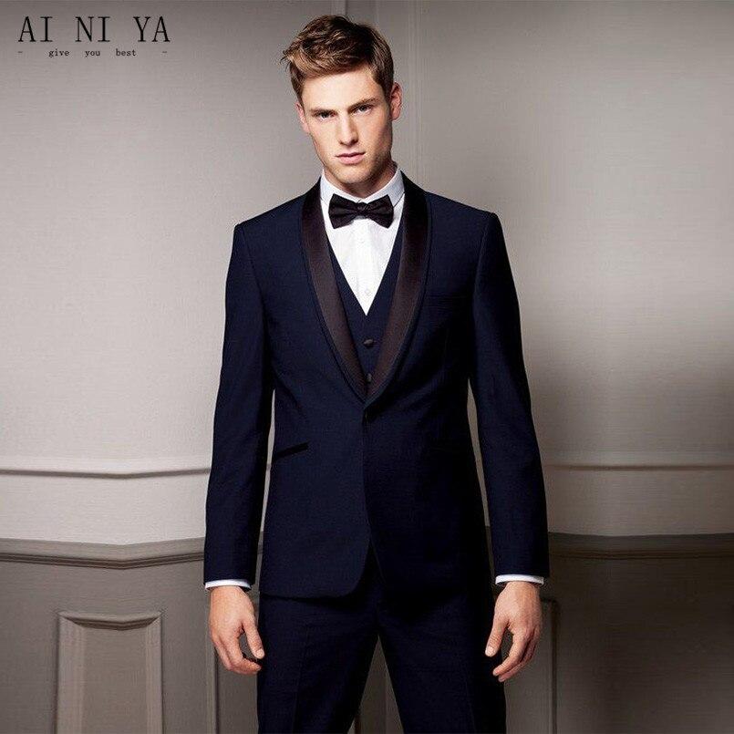Costume pour hommes à la mode personnalisé hommes marié gap revers robe de marié homme costume de mariage costume (chemise + short + gilet)