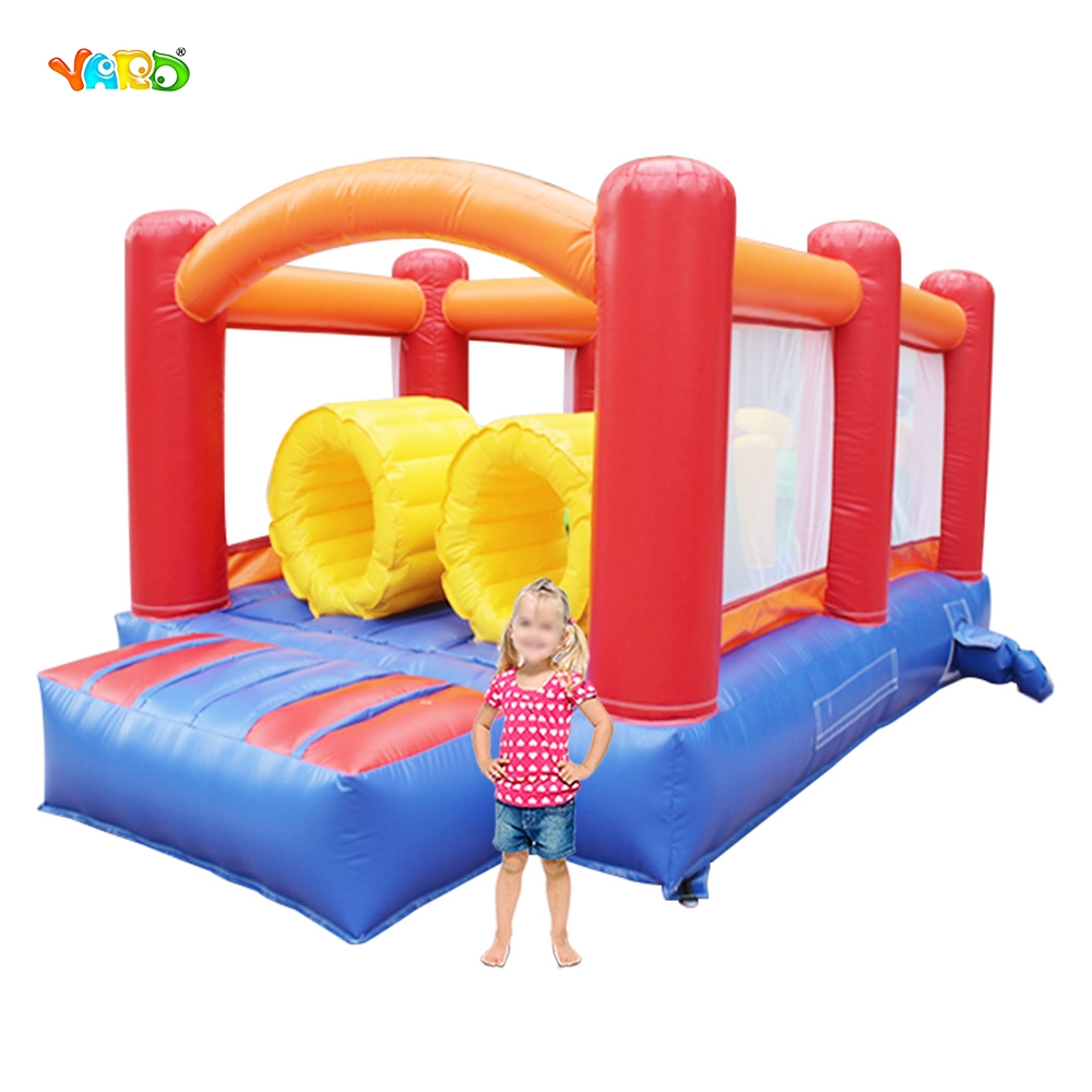YARD Inflatable Bouncer Residential Use Jumping House with Dual Slides for Kids DHL Free Shipping yard free shipping inflatable bouncer dual slide bouncy jumper giant jumping house obstacle combo for home use