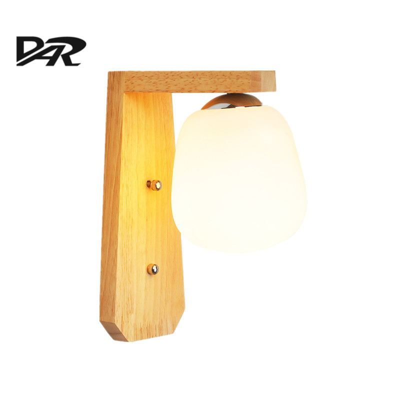 DAR Wooden Wall Lamps Japanese-style Wall lamp Led Bathroom Light Fixtures Bedroom Bathroom Mirror Sconces Include E27 Led Bulb traditional classic metal silvery electroplating led bathroom mirror light led wall lamps light wall sconces 1 light ac