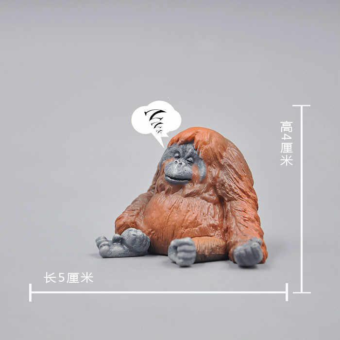 Brinquedos bonitos simulação animal selvagem elefante urso gorila cães gatos ouriço pvc modelo figuras de ação brinquedos presente para crianças