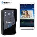 SUNLUXY Wi-Fi Видео-Телефон Двери Просмотра Беспроводной Дверной Звонок Видео Домофон Глазок Камеры Системы ИК Ночного Видения для Домашней Безопасности