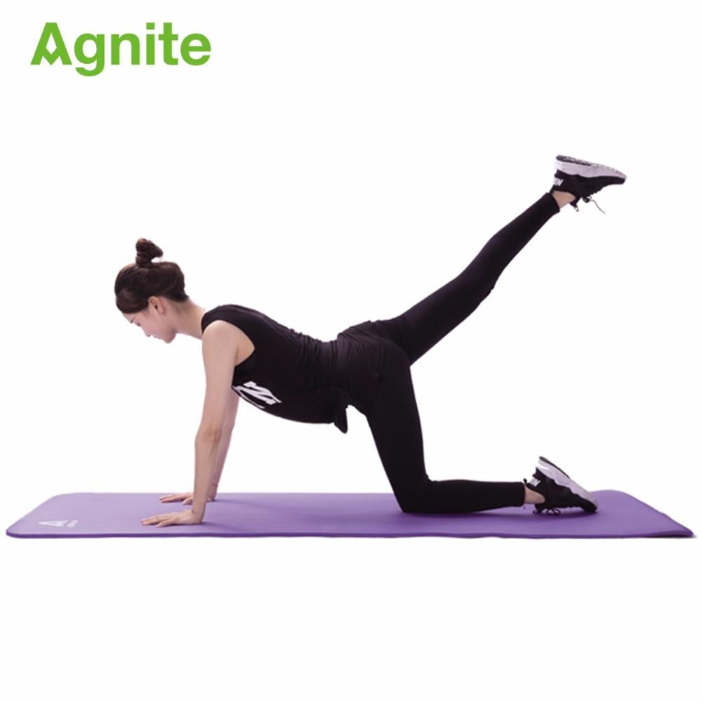 Agnite 4174 professional slip proof NBR yoga mat 10mm for fitness cushion quality gymnastics exercise matress