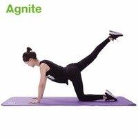 Agnite 4174 professional slip proof NBR yoga mat 10mm for fitness cushion quality gymnastics exercise matress sport carpet strap