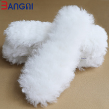 3ANGNI Original Thermal Real Wool Felt Sheep Fur Warm Heated Winter shoe Insoles For Women Man Boots