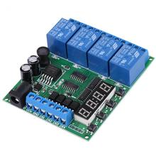 цена на DC 4-Channel Multifunction Delay Time Timer Relay Switch Module Power anti-reverse diode