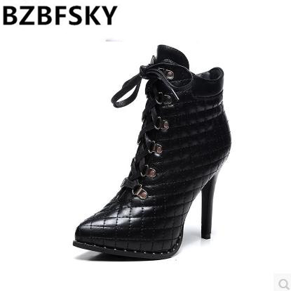 new 2018 fashion patent genuine leather women autumn winter short boots shoes high heels lace up black riding boots facndinll women ankle boots new fashion autumn winter genuine leather high heels lace up shoes woman dress party short boots