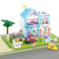 539pcs Set Friends For Girl Original Lepin Designer Villa House Building Kit Compatible Lepin Friends Camp