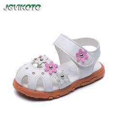 JGVIKOTO markowe dziewczęce buty dziecięce plażowe sandały dla małych dzieci średnie dzieci krowa mięśni miękka podeszwa księżniczka słodki różowy biały kwiatowy