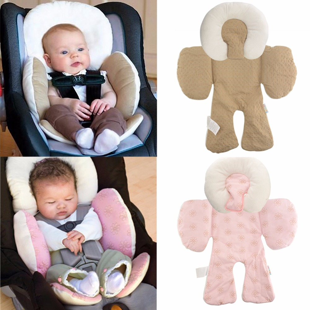 Reversible Baby Infant Newborn Stroller Body Support Cushion Soft Sleeping Pillow Safe Car Qualified