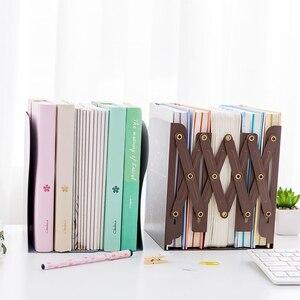 Image 4 - 1 Pcs De Vrijheid Aan Te Passen Boekenplank Grote Metalen Boekensteun Bureau Houder Stand Voor Boeken Organizer Briefpapier