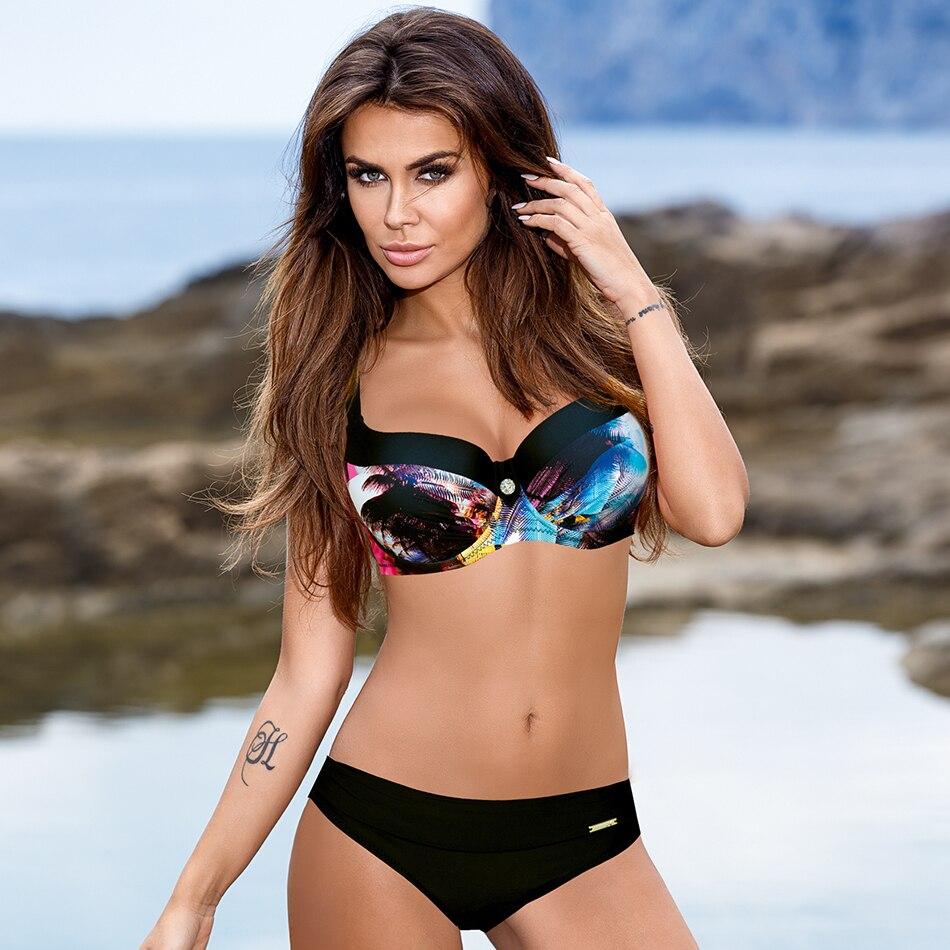 ESSV 2019 New Arrival Bandeau Bikini Set Swimwear Women Strap Sexy Swimming Suit Swimsuit Bather Beachwear Swimsuit