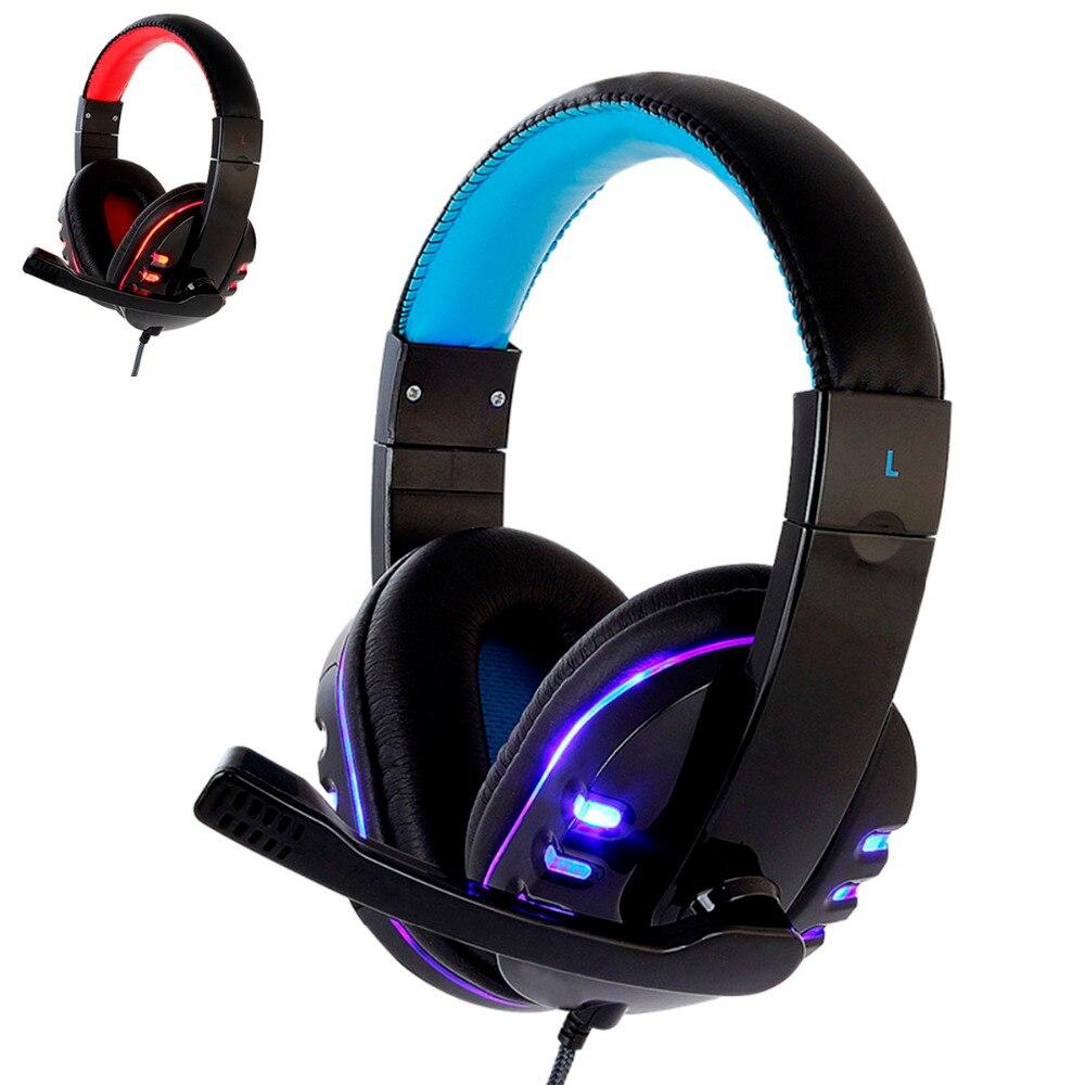 CH1 stereo kopfhörer headset casque Deep Bass Computer Gaming Headset PS4 mit Mic LED-Licht für PC Spiel Gamer Kopfhörer
