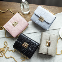 New Chain Handbag Mini Snake Bag Bolsas Femininas Simple Alligator Crocodile Leather Mini Small Women Crossbody