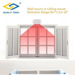 Image 5 - Проводной занавес PIR детектор занавес потолок окно пассивный инфракрасный детектор движения для дома охранная сигнализация система датчик движения