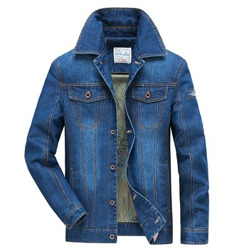 New Brand Denim Jacket Men Military Casual Jeans Coat Men Single Breasted Plus Size Mens Jackets Many Pockets Mesh Liner Outwear